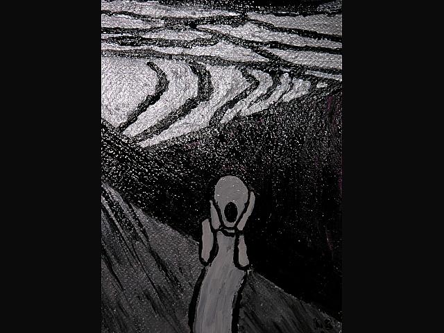 Krzyk szary - własna interpretacja