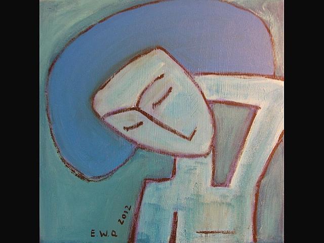 z cyklu: śpiące kobiety -Niebieska